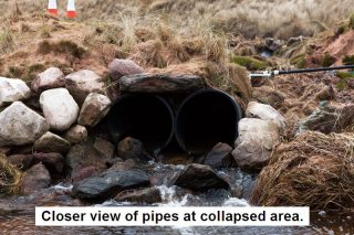 details of pipes at collapsed area photo by Rob AV