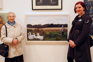 Alicia Bruce and Molly Forbes at Aberdeen Art Gallery in 2012