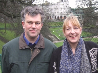Martin Ford and Rhonda Reekie at Union Terrace Gardens