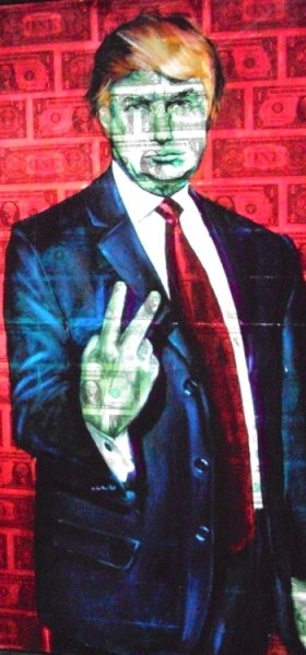Donald Trump painting by David McCue