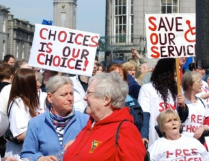 Choices users and supporters at the 2008 demo.