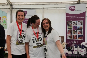 2012 runners L-R Rachel Maciver, Claire McBain, Debbie Fotheringham