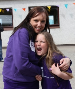 Debbie Fotheringham, events and fundraising co-ordinator at VSA, and daughter Kenzie, a volunteer on the day