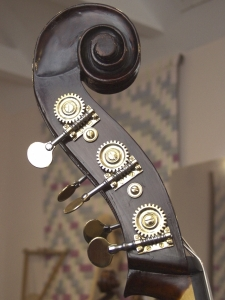 double bass scroll