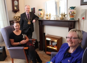 L-R Jenny Ewen (general manager of adult and community services), Lord Provost of Aberdeen, Diane McCabe (director of social care and wellbeing)