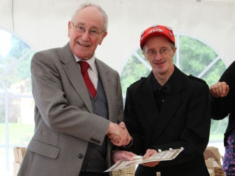 L-R Robbie Shepherd, James Spears at VSA's Easter Anguston Farm's prize giving in Sept 2012
