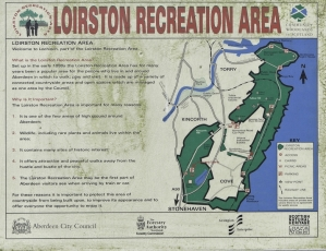 The Sign At Loirston Explaining Why A Football Stadium Should Not Be Built There.