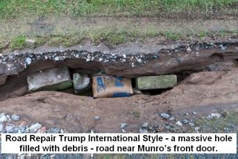 Road repair Trump International style