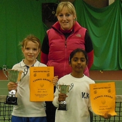 District Coach Vikki Paterson with Jodie and Varada.