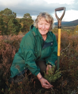Trees for Life volunteer with juniper seedling Dundreggan 2