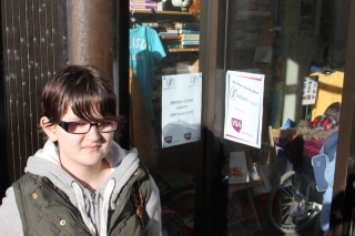 Young carer Joanne Morrison at the pop-up shop