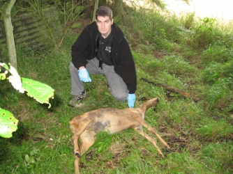 Andy Turner With Tragic Evidence Of Wildlife Crime – A Dead Deer