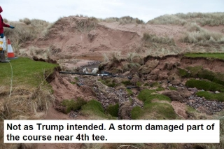not as Trump intended a storm damaged part of the course near 4th tee photo by Rob AV