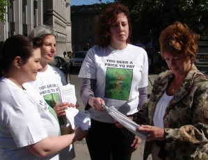 Protestors Deliver A Petition Of Nearly 2,500 Signatures To Cllr Aileen Malone