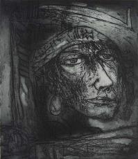 PVA. John Bellany untitled etching, 2003