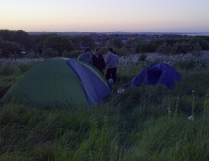 Camping Out On Tullos Hill