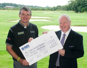 Paul Lawrie with Cheque