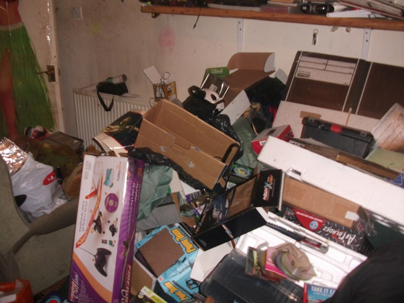 George Copland's property thoroughly searched and left in a heap.