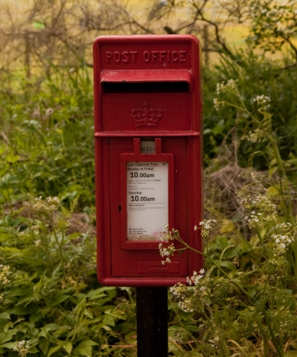 Burnhervie Post box Duncan Harley
