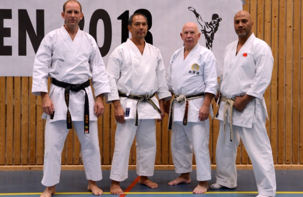 Ronnie Watt ( Third from left ) at Norway Karate Festival, Nov 2013
