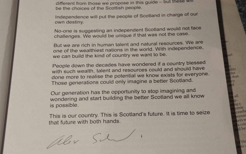 Salmond Letter Credit Duncan Harley