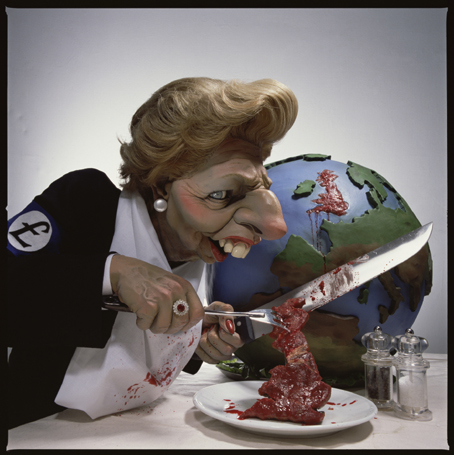 Thatcher Cutting up Britain (c) Spitting Image