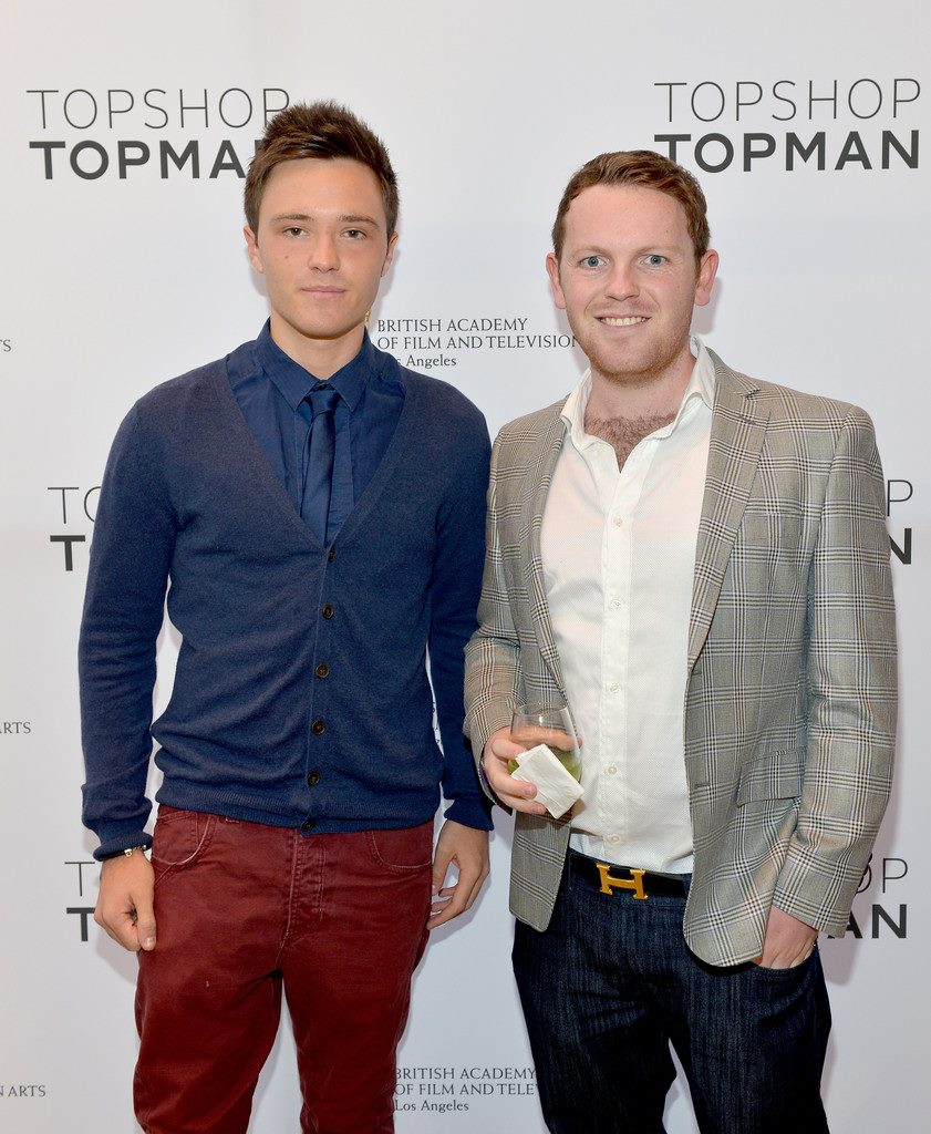 jonny and scottish actor declan-michael laird at bafta la _ top shop event in los angeles