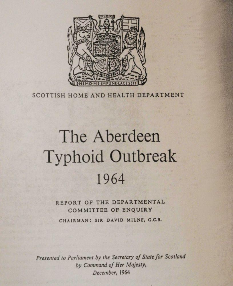 milne report typhoid aberdeen