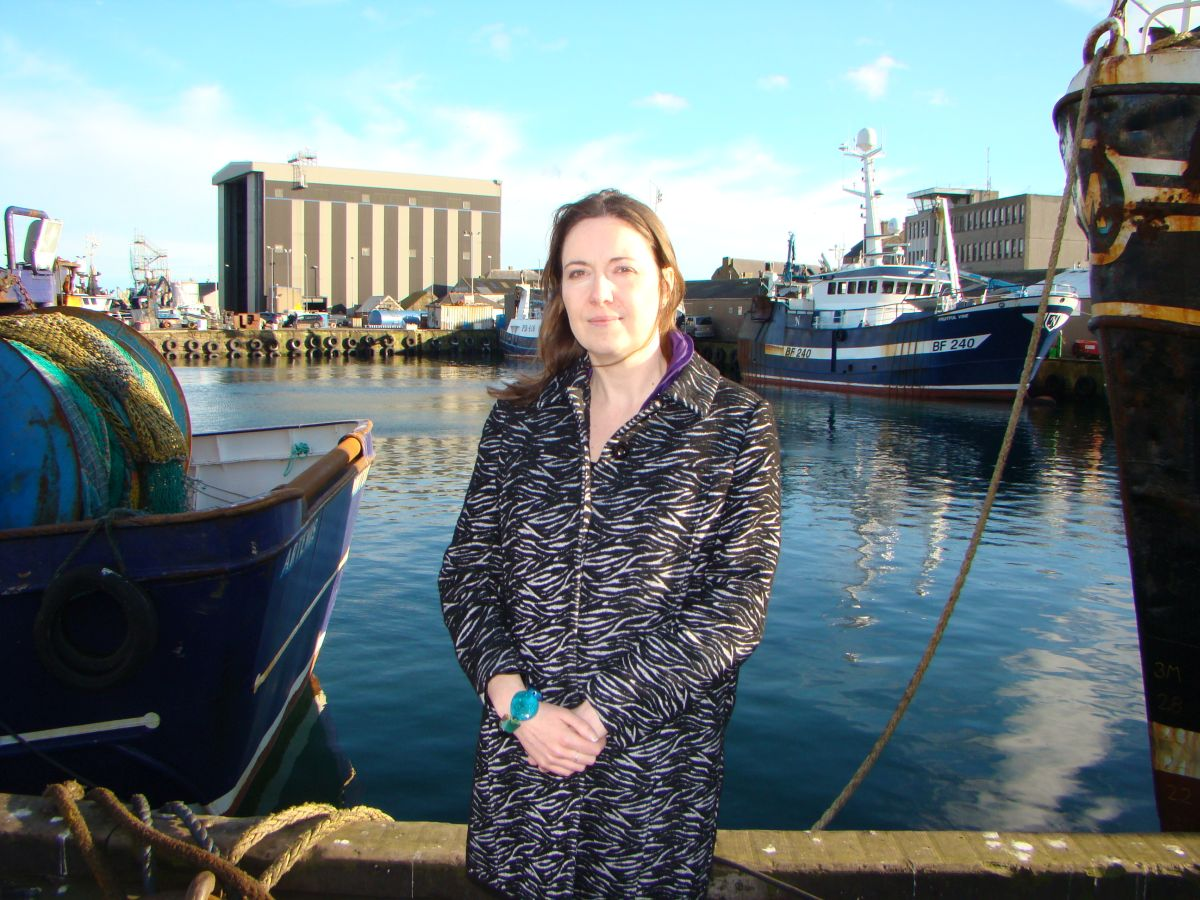 Eilidh Whiteford MP Peterhead Harbour (1)