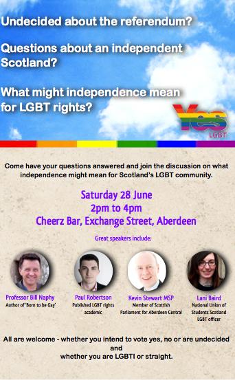 Yes LGBT Aberdeen Poster