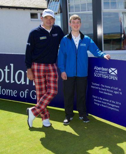 Paul Lawrie with winner David McIvorfeat