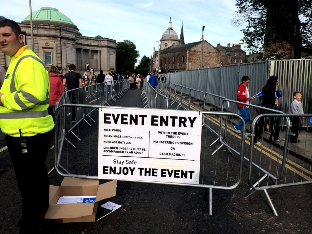 UTG event entry security
