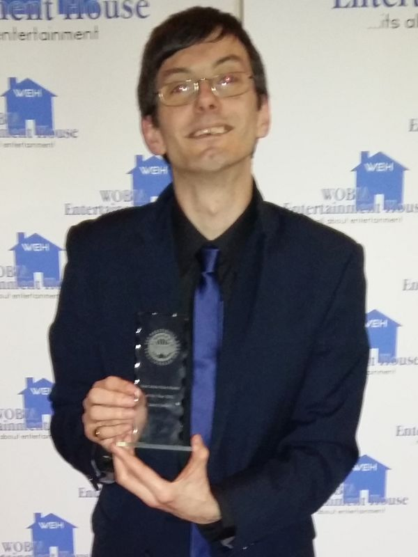 David Forbes with his Award