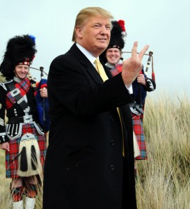 trump sticks fingers up
