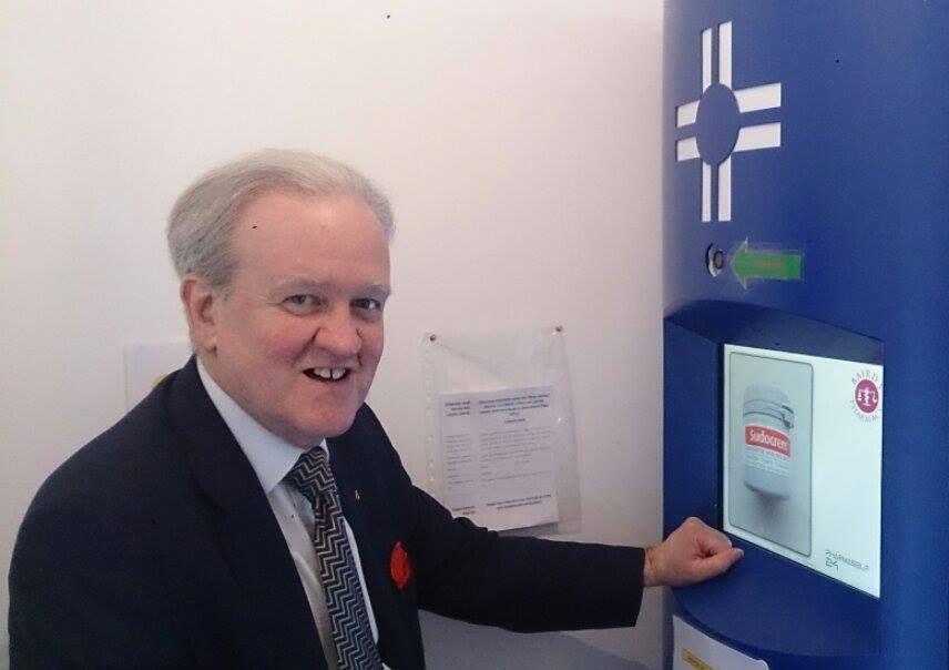 Stewart Stevenson, Inverallochy dispensing kiosk2 2015