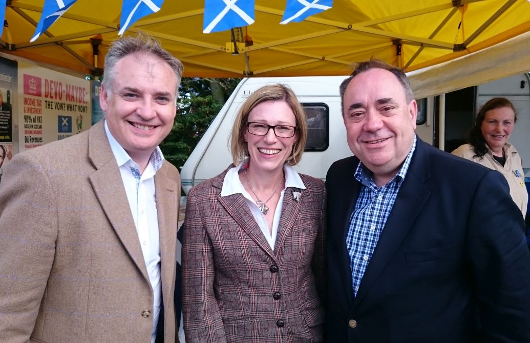 Richard Lochhead MSP, Gillian Martin and Alex Salmond MP MSP - (Credit-SNP Aberdeenshire)
