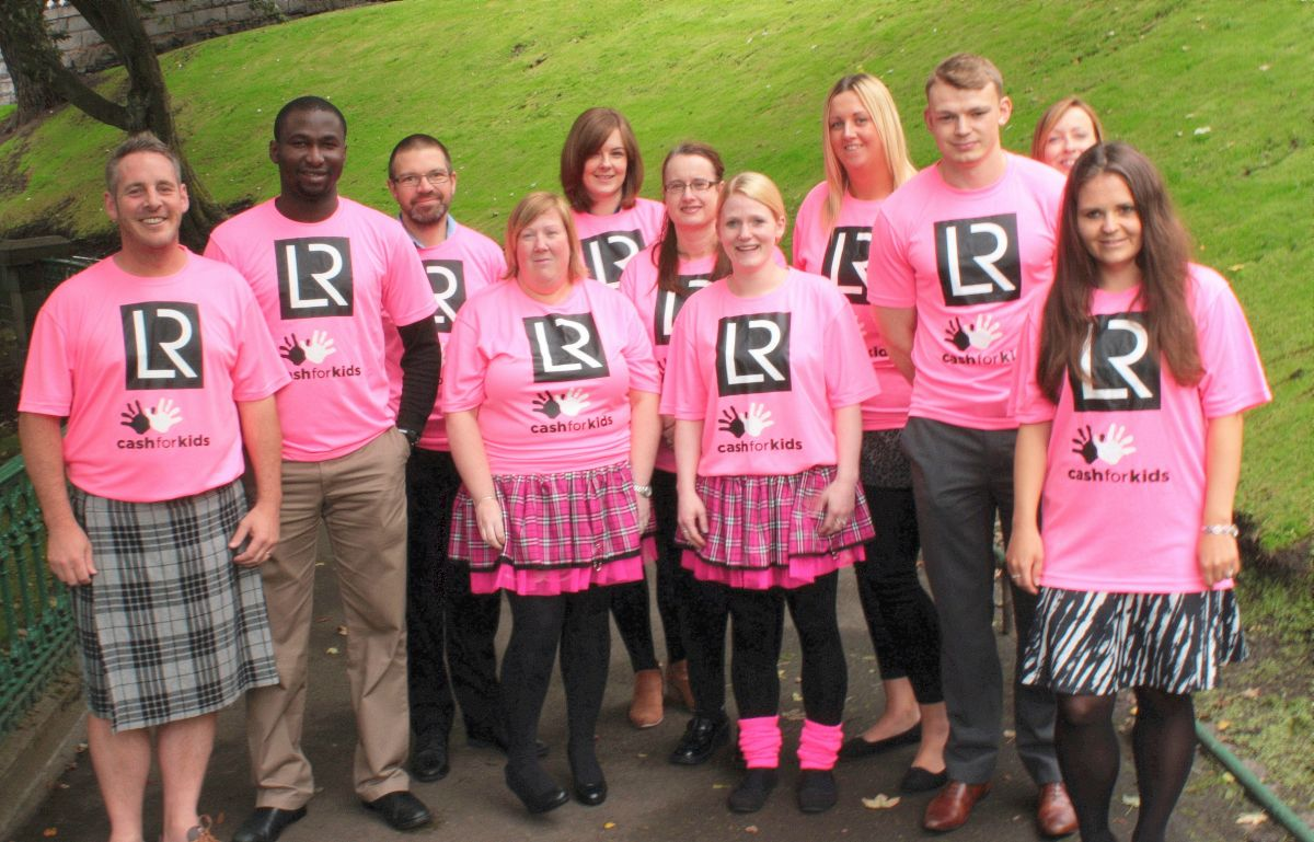 Some of the Lloyd's Register Kiltwalk team