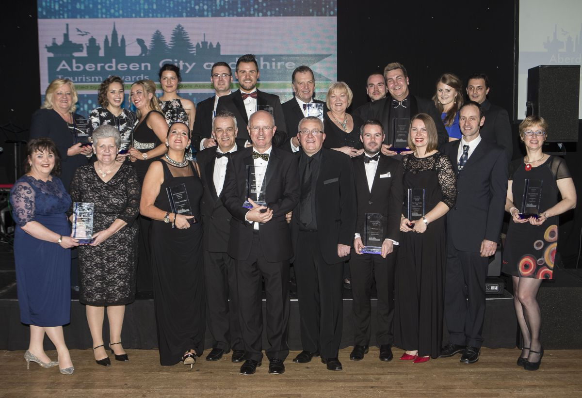 Aberdeen City and Shire Tourism Awards 2015. Pic (L to R)