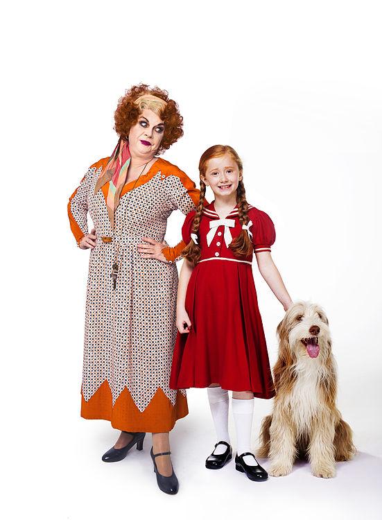 ANNIE - Elaine C.Smith as 'Miss Hannigan' with Annie and Sandy
