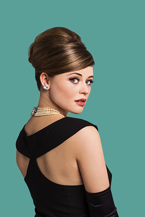 Emily Atack as Holly Golightly (on green) credit Sean Ebsworth Barnes