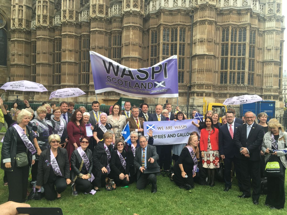 EW with other SNP MPs and WASPI campaigners