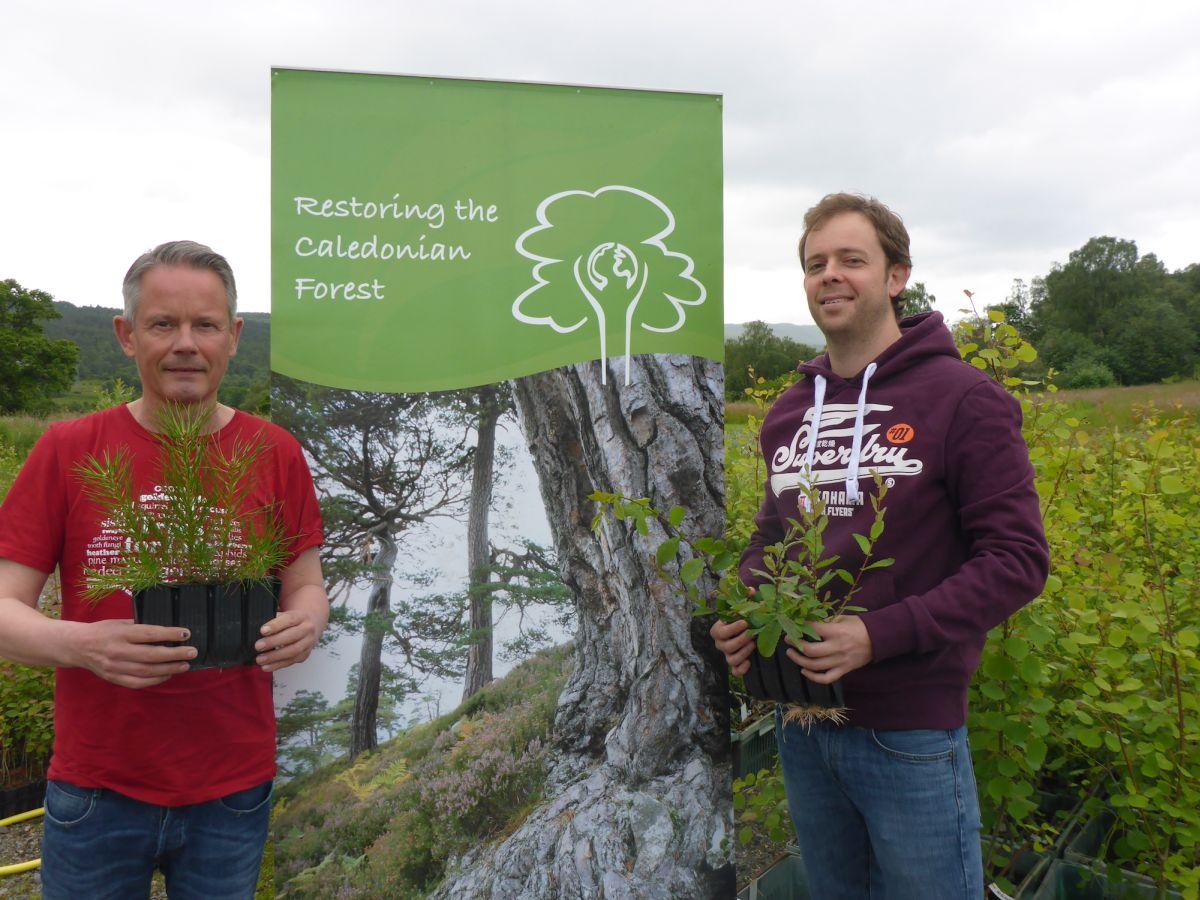 Steve and Paul with saplings (medium)