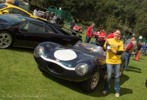 2 D Type Jag Morag Yule with Car of the Day champayne (Tony Yule)