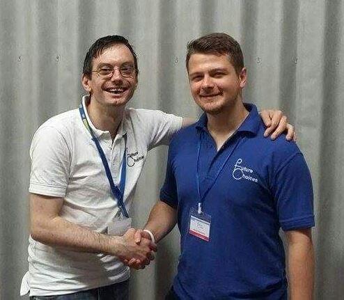 David Forbes with Devon Thompson